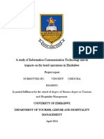 A study of Information Communication Technology and its impacts on the hotel operations in Zimbabwe