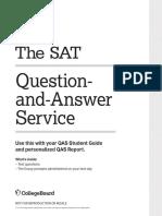 2018 SAT Question-Answer Student Guide pdf | Sat | Behavior