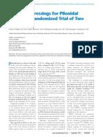 Advanced Dressings for Pilonidal Disease