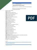 Networking Protocols Nouns
