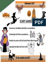 Cartaz Halloween 2017