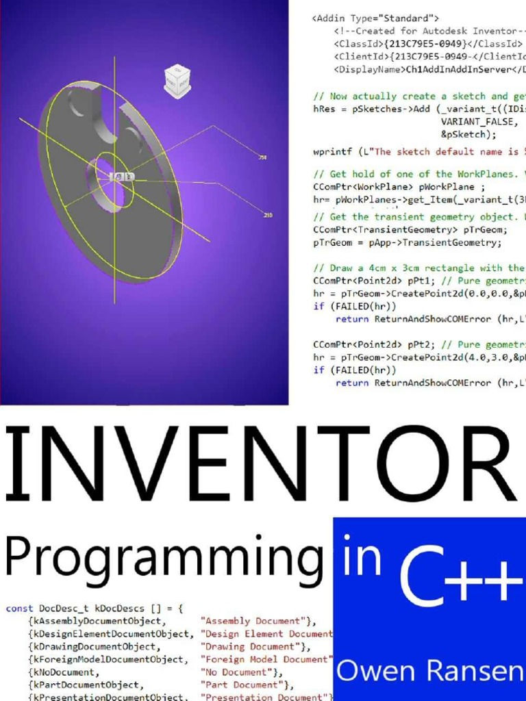 Autodesk Inventor Programming In C++ | Component Object Model