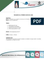 Resumen de Sesion en Linea 1