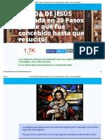 La VIDA de JESÚS Contada en 20 Pasos [Desde Que Fue Concebido Hasta Que Resucitó] » Foros de La Virgen María