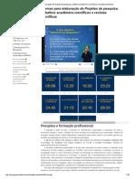 Normas Para Elaboração de Projetos de p...Ico-científicos e Revistas Científicas