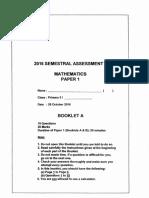 P5 Maths SA2 2016 Red Swastika Exam Papers
