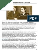 Amor y filología Correspondencias 1943-1948