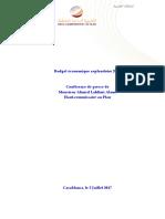 Budget Économique Exploratoire 2018 - Les Perspectives Économiques Nationales en 2017 Et 2018 (Version Fr)