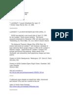 Official NASA Communication m98-079