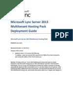 Microsoft Lync Server 2013 Multitenant Pack for Partner Hosting Deployment Guide