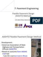 5. Flexible Pavement Design - Aashto
