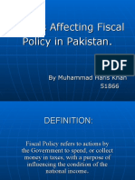 Factors Effecting Fiscal Policy