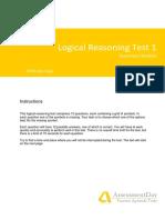 LogicalReasoningTest1 Questions