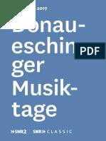 Donaueschinger Musiktage 2017 Programmflyer PDF