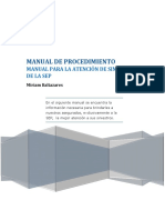 Manual de Procedimientos Siniestros  Sep