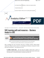 Analytics Learning Path