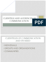 Clienteles of Communication