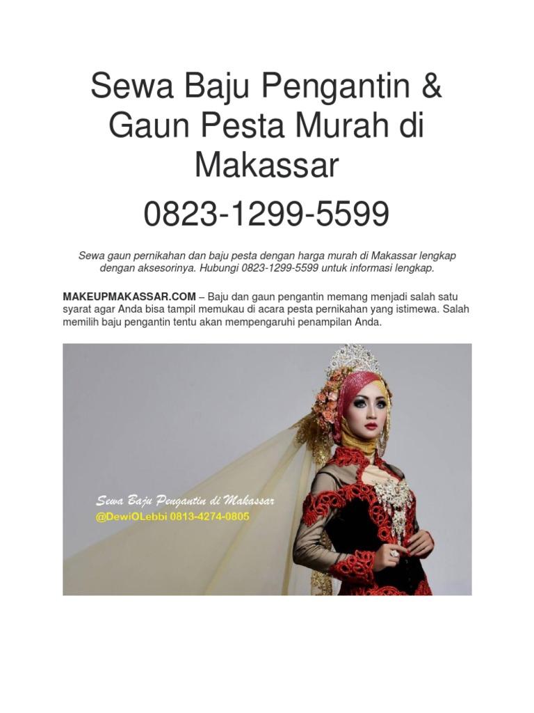 Sewa Baju Pengantin & Gaun Pesta Murah di Makassar 9-9-9