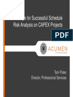 5-Steps-To-Successful-Schedule - Risk Analysis on CAPEX Projects