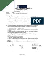 Examen Parcial 2017 2 Diseño en Concreto Armado II
