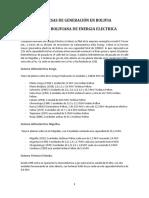 Empresas de generación, transmisión y distribución eléctrica en Bolivia