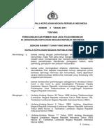 Peraturan Kapolri Nomor 2 Tahun 2011 Tentang Penggunaan Dan Pembiayaan Jasa Telekomunikasi Di Lingkungan Polri
