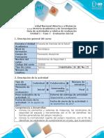 Guía de Actividades y Rubrica de Evaluación - Unidad 1 - Fase 1 - Evaluación Inicial