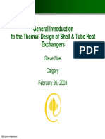 Thermal Design of Shell & Tube