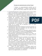 Catorce Son Los Principios de Administración de Henri Fayol