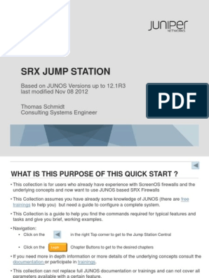 Juniper SRX Quickstart 12 1R3 by Thomas Schmidt | Command Line