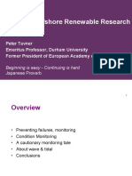 Peter Tavner Durham University Whats Hot in University Offshore Renewable Research