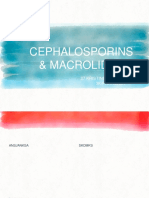 Cephalosporins and Macrolides