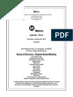 Metro Board meeting agenda, Oct. 2017