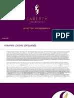 Sarepta IR Presentation (October 2017)