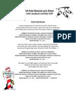 North Pole Musical Lyrics
