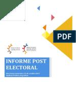 DL - Informe Post Electoral 22 de Octubre 2017