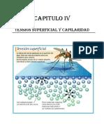 CAPITULO IV - Tensión Superficial y Capilaridad