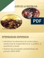 Organización de La República 1823-1830