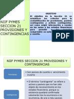 NIIF PYMES SECCION 21 PROVISIONES Y CONTINGENCIAS.pptx