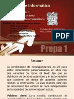 Informatica II - Unidad 1. Tema - Combinacion de Correspondencia