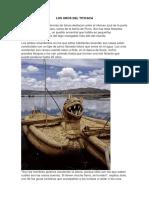 Los Uros Del Titicaca