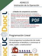 Programación Lineal Clase 1