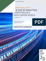 MGI the Age of Analytics Executive Summary