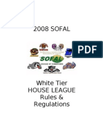 2008 Sofal Rules & Regulations - White Tier