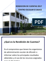 Rendición de Cuentas C.E. El Sauce 2017