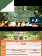 Programacion de La Semana Forestal 2015 Unalm