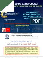 Acciones Preventivas Frente Al Fenomeno de El Niño Senamhi_congreso Republica_21082015