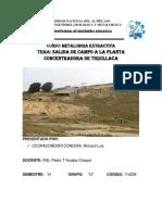 INFORME de Metalurgia Extractiva