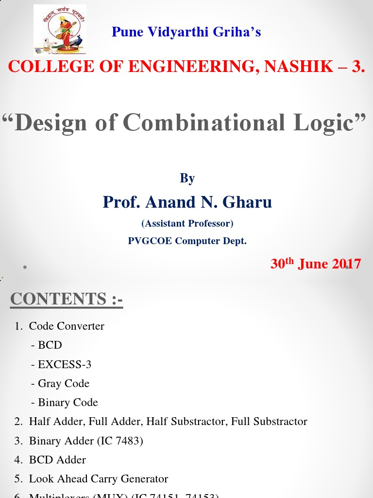 COMBINATIONAL LOGIC DESIGN   Binary Coded Decimal   Theory