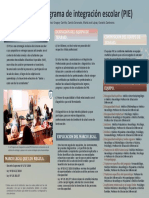 Programa de Integración Escolar PIE POSTER